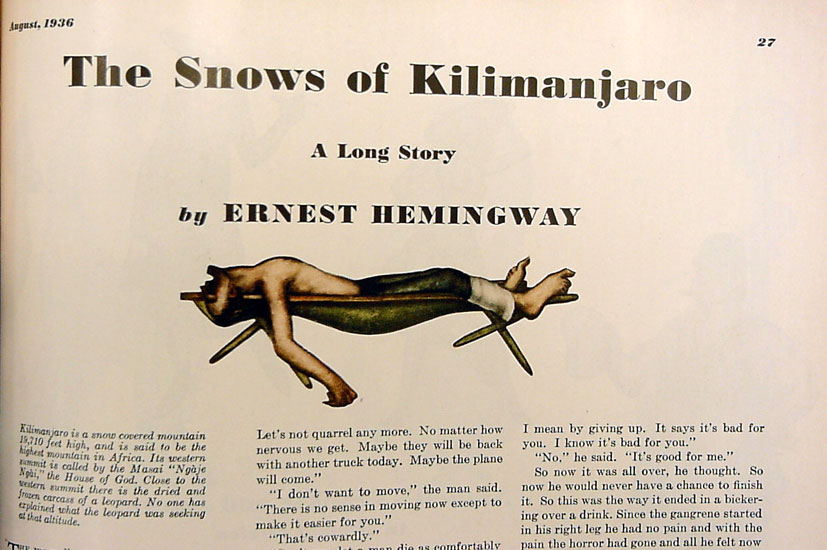 snows of kilimanjaro essay We will write a custom essay sample on the snows of kilimanjaro – analysis or any similar topic specifically for you do not wasteyour time hire writer the story opens with a paragraph about.
