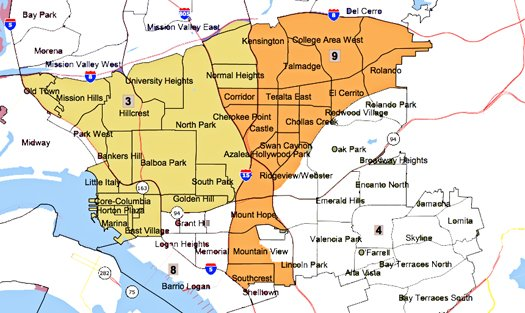 District Three Residents Oppose Redistricting Map San Diego Reader
