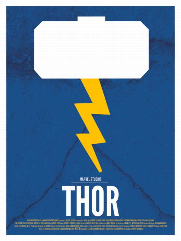 thor minimalist movie poster  who did it better