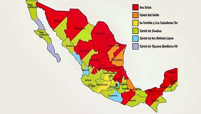 Cartels In Mexico Map.Sinaloa Drug Cartel Controls 16 Mexican States Including Baja