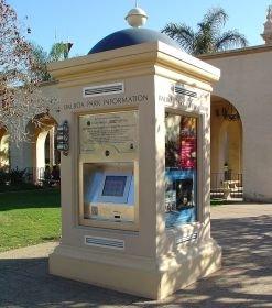 Balboa Park kiosk