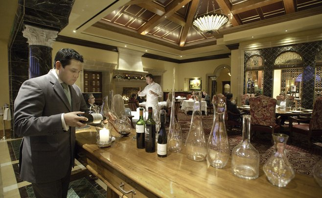 Master sommelier Jesse Rodriguez has won numerous wine-list awards.