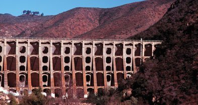 Cracks found in Lake Hodges Dam led to a reinforcement project that was completed by 1937.