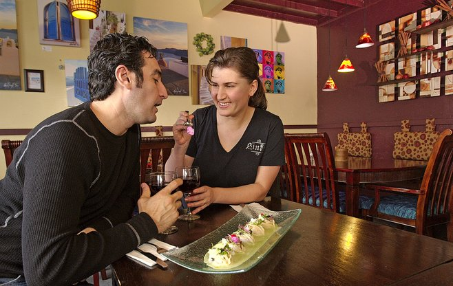 Eye-candy owners/chefs of Café 21, Alex and Leyla Javadov