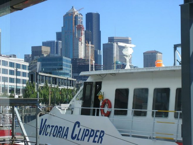 The Victoria Clipper cruises through the Puget Sound and into the Strait of Juan de Fuca.