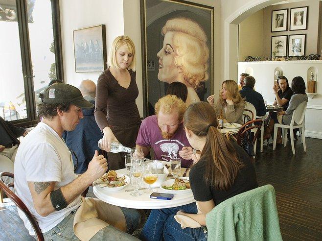 Cafe Chloe has the feel of a naughty weekend in Paris.