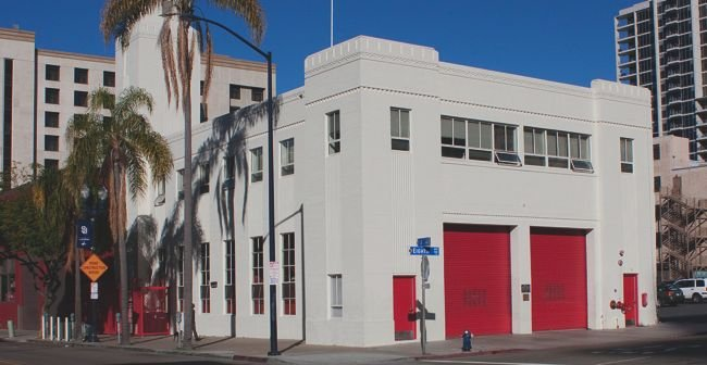 Why do no flags fly at Station 4 at Eighth Avenue and J Street?