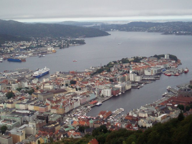 Bergen, Norway was the most important trading center in Scandinavia in the Middle Ages.