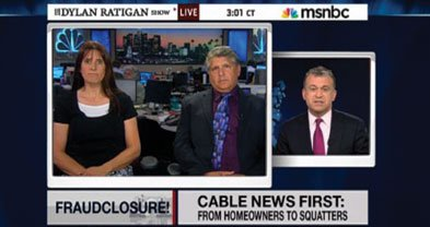 Carlsbad attorney Michael T. Pines and a client, Danielle Earl, appeared on MSNBC's Dylan Ratigan show. The California Bar has suspended Pines's license.