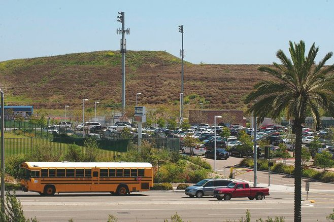 Otay Ranch High School in Sweetwater school district houses five cell phone towers.