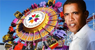 Obama administration to San Diego Unified: stop spending federal money at amusement parks.