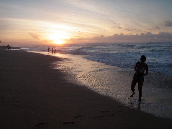 Sunset near Turtle Bay, Hawaii