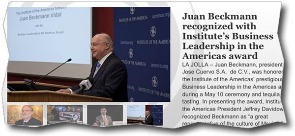 Institute of the Americas website features Juan Beckmann.