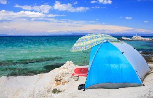 Baja beach camp