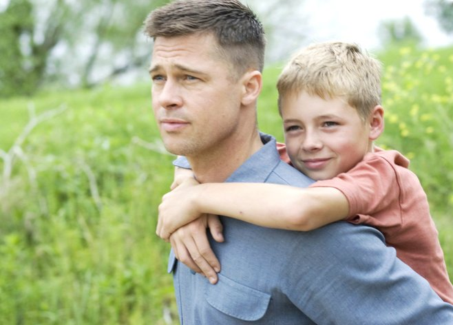 Brad Pitt is a tough-love patriarch in The Tree of Life.