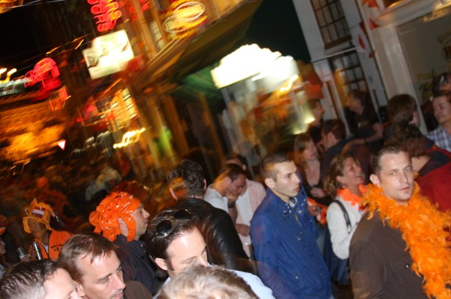 Partying in the streets for Queen's Day