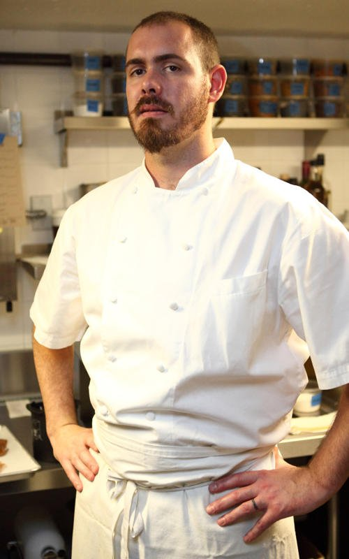 Chef Luke Johnson is a master at attaining proper balance and texture, of plating food that looks like artwork.