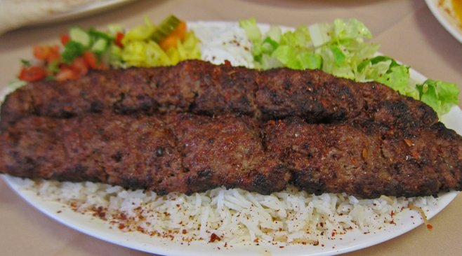 Adana kebab, a mildly spicy minced-meat kebab, is named after an 