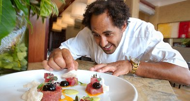Chef Jason Knibb's tuna tartare is a revelatory rendition — shocking even.