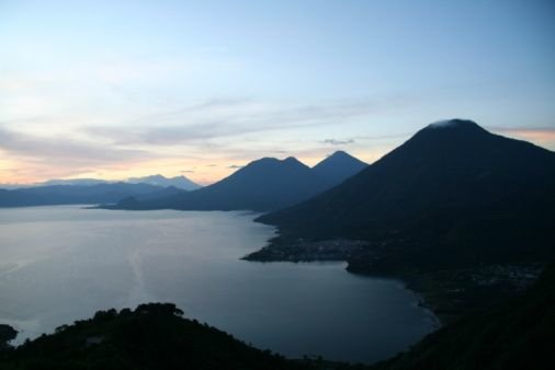 Lake Atitlan at dusk