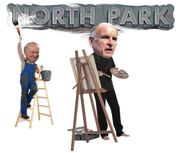 """Ever the artiste... Mayor Sanders wants """"to develop a public art master plan"""" for North Park."""