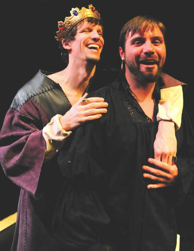 Dangerfield G. Moore and Ross Hellwig in Edward II