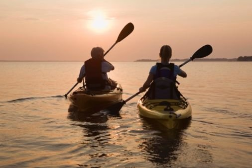 Kayaking is an ideal way to explore the Slough