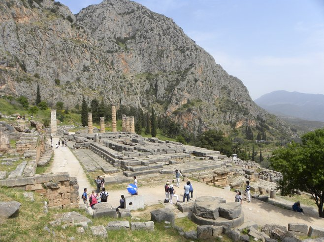 Remains of the Temple of Apollo in Delphi