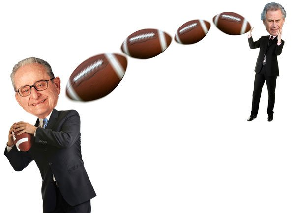 Alex Spanos and Philip Anschutz...tossing to Republicans