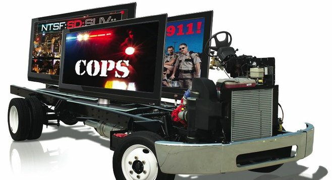 SDPD's new mobile command post would pack three 42-inch flat screens.