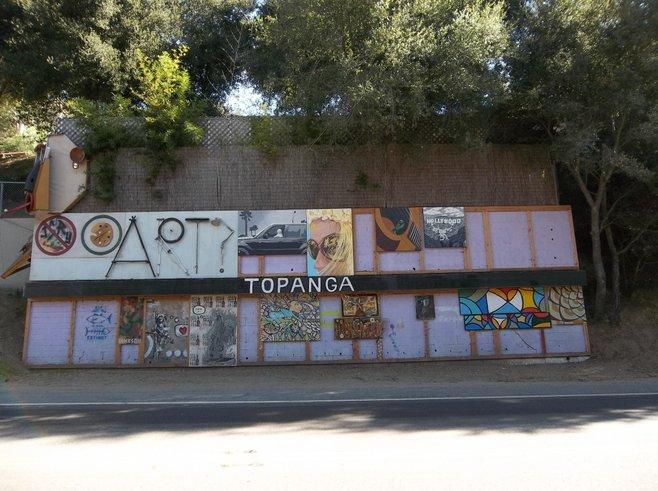 Roadside art in Topanga