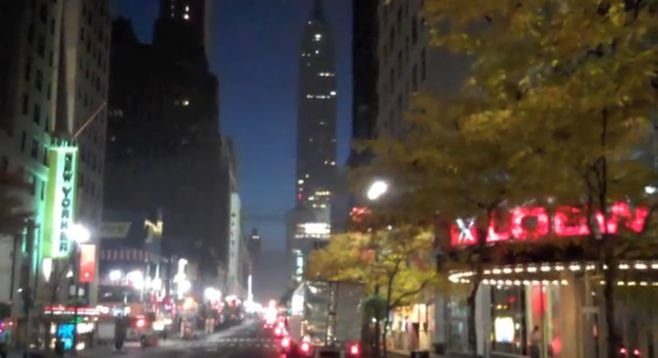 Manhattan, relatively empty in the early a.m.