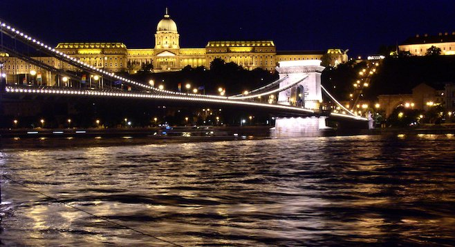 On the Danube: exploring Budapest, Hungary, at night