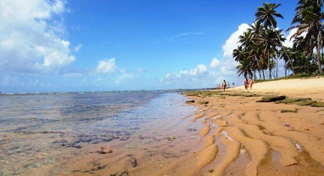 Ebb tide in Praia do Forte