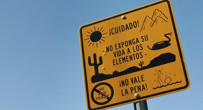 Ciudad Acuña, Mexico: a possible welcome sign?