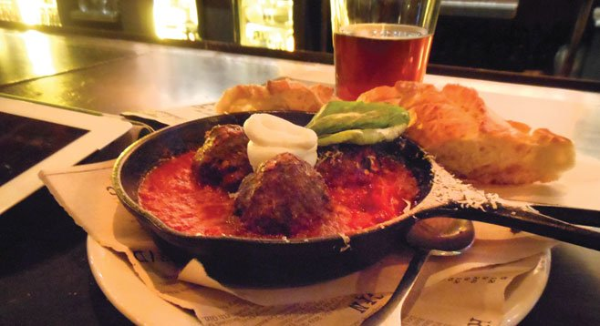 ...they're big, in a luscious tomato sauce with sour cream.