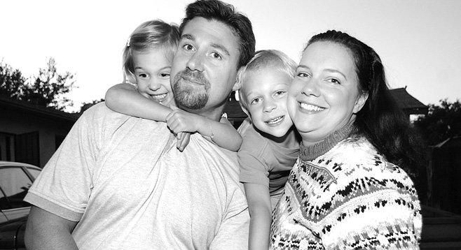 Lizzie, Chris, Junior, and Laura, c. 2003