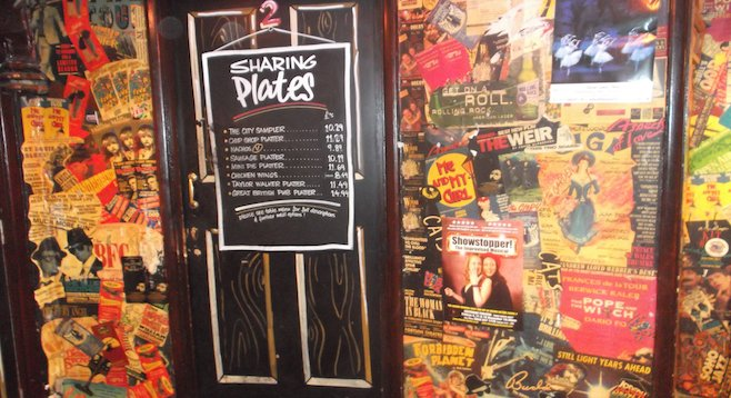 Downstairs décor at London pub The Salisbury
