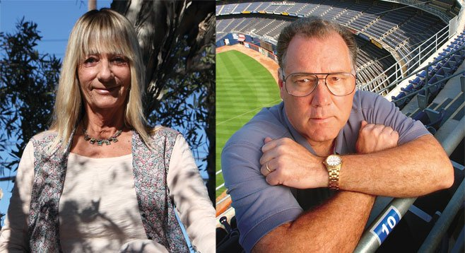 Don't believe the Chargers stadium propaganda, say former  councilmembers Donna Frye and Bruce Henderson.
