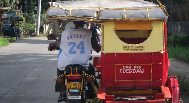 Typical transportation in the Philippines