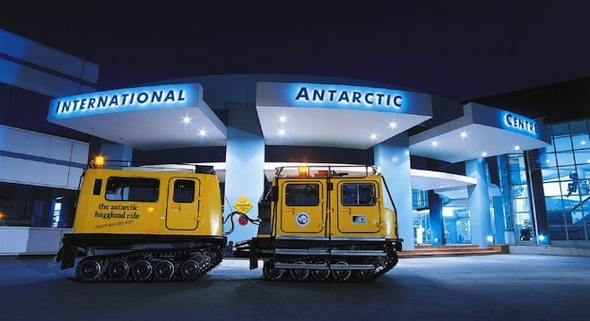 Hägglund vehicles on display at International Arctic Centre