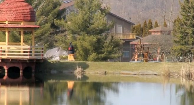 Peaceful setting of West Virginia's New Vrindaban Community