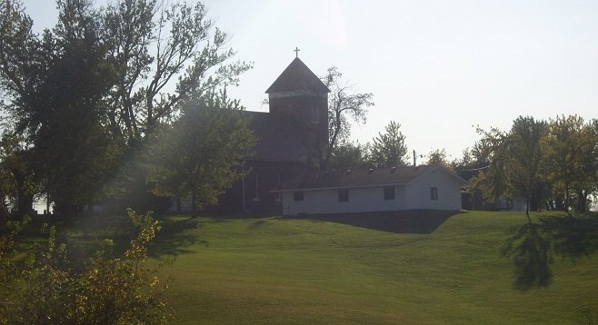 St. Joseph's Church – what's left of the township of Bauer, IA.