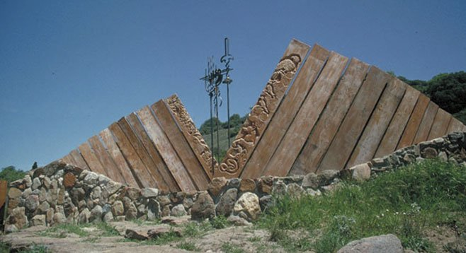 The Julian artist James Hubbell designed the gateway to the preserve.