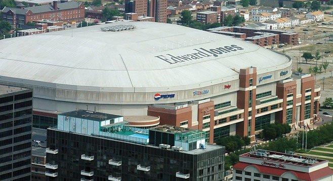 Edward Jones domed stadium in St. Louis