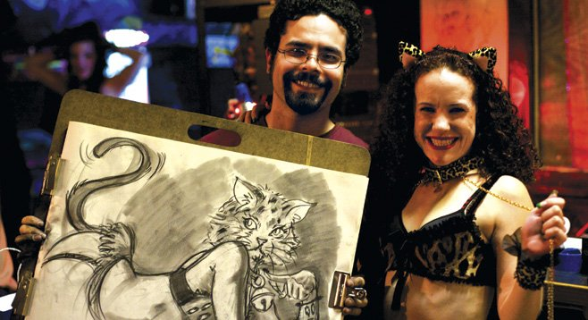 Models, drinks, and drawing with Dr. Sketchy's at the Ruby Room
