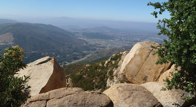 The 1983-foot Stanley Peak offers wide views of Escondido and beyond.