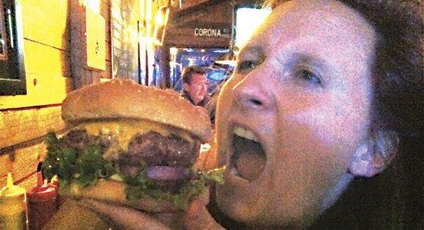 Half-pound cheeseburger, $6.25, at Rocky's Crown Pub in Pacific Beach
