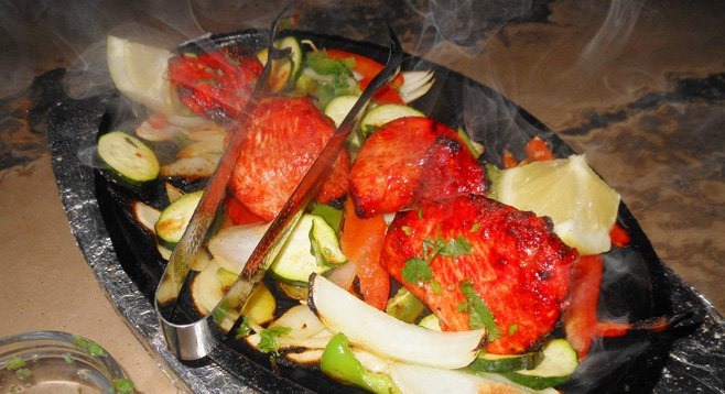 Urban India features all the usual Indian dishes, like chicken tikka, cooked in a tandoori oven.