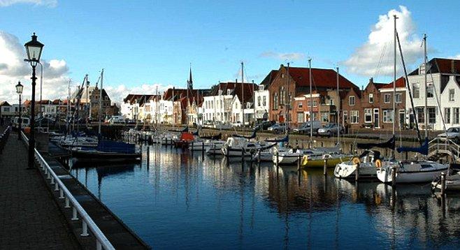 Touring the Dutch harbor town of Middleburg, Zeeland.